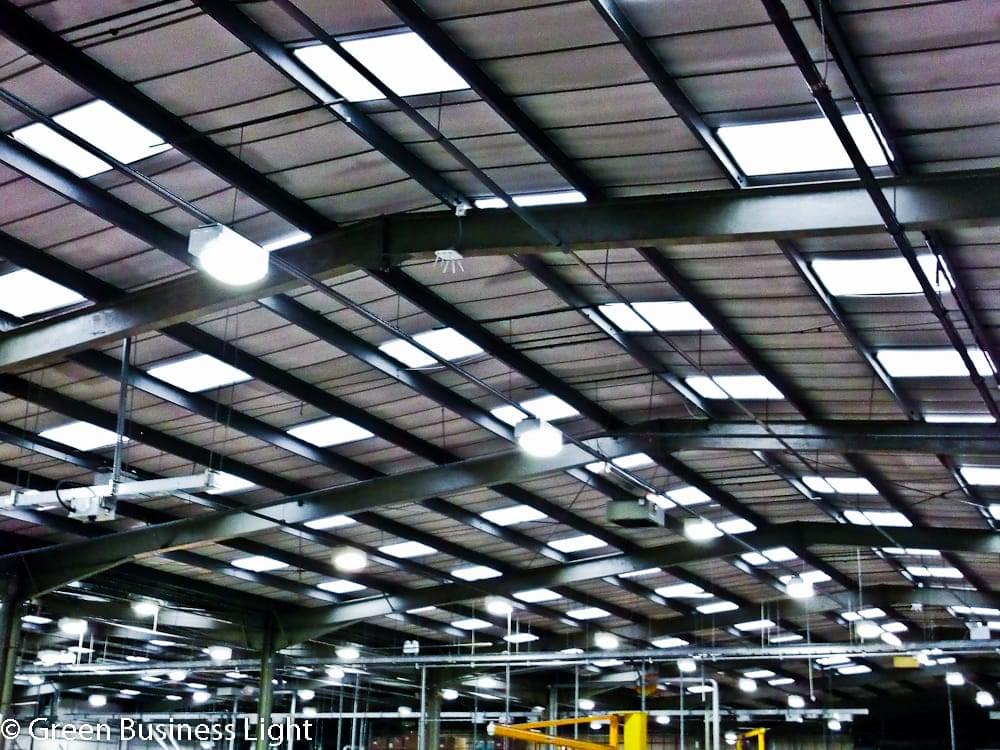 Warehouse lighting energy efficient Owned