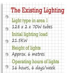 Existing Lighting at President Engineering