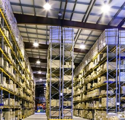 Green business light led warehouse lighting uk
